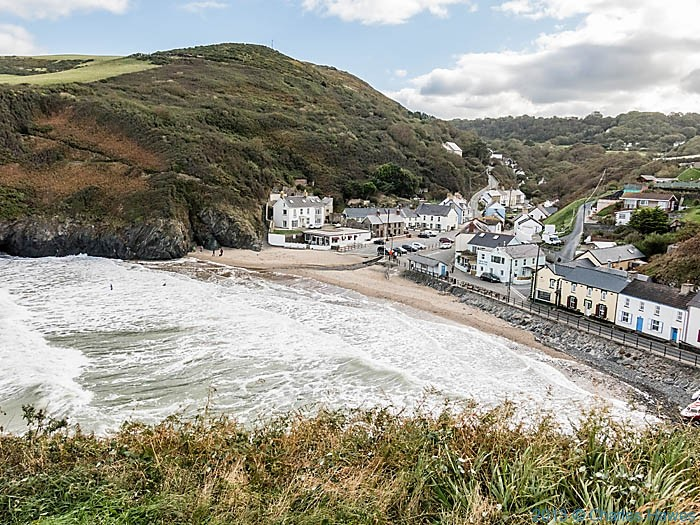 Beach at Llangrannog, ceredigion,photographed from The wales Coast path by Charles Hawes