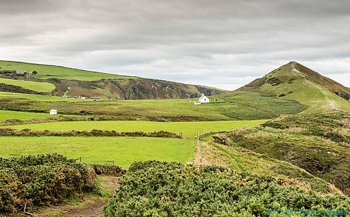 View of Foel y Mwnt photographed from The Wales Coast Path by Charles Hawes