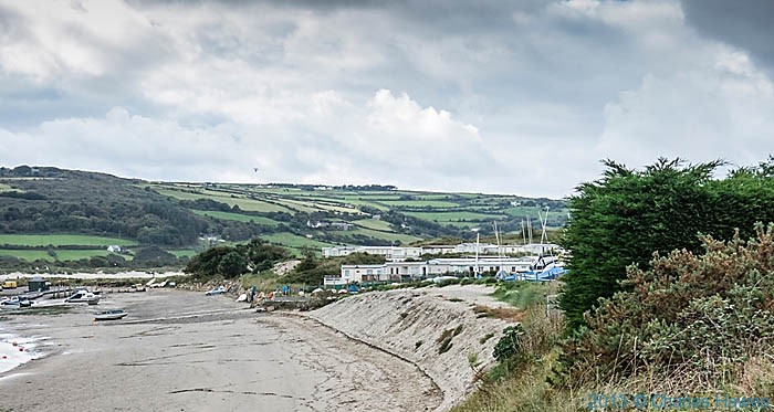 Patch Cravan Park on the Teifi estuary, photographed from The Wales Coast Path by Charles Hawes