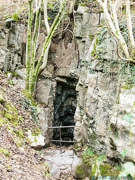cave entrance near Craig Y nos Park, Brecon Beacons, photographed by Charles Hawes