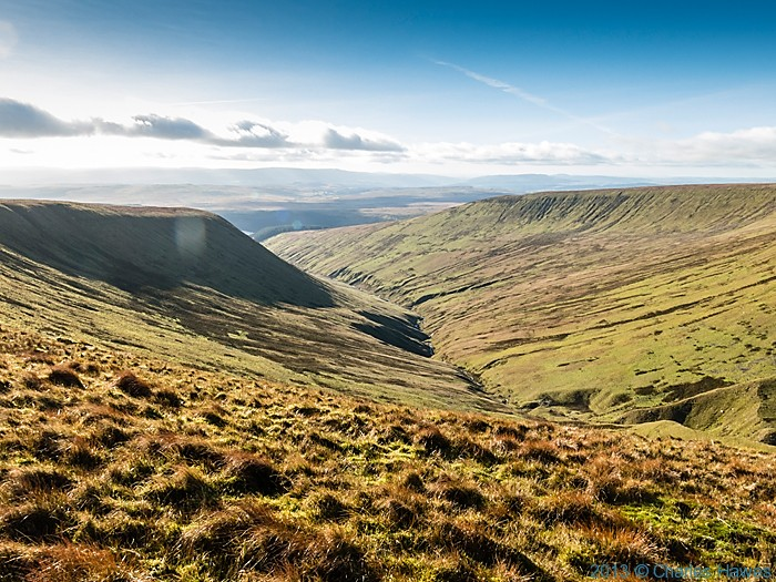 View south west from path near Corn Du, Brecon Beacons National park, photographed by Charles Hawes