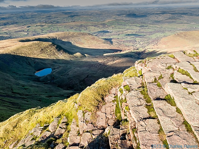 View from Pen-Y-Fan, Brecon Beacons National Park, photographed by Charles Hawes