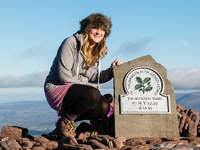 Summit of Pen-Y-Fan, Brecon Beacons National Park, photographed by Charles Hawes