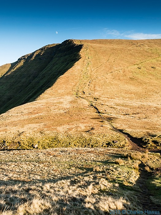 View to Fan y Big from Cribyn Brecon Beacons National Park, photographed by Charles Hawes