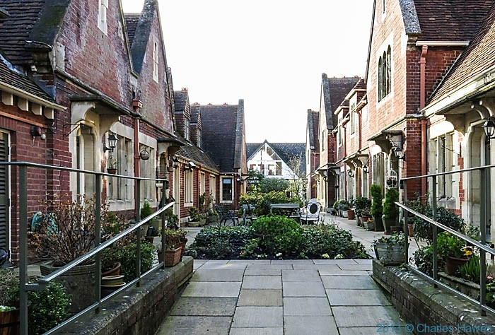Husseys Almshouses, Salisbury, photographed by Charles Hawes