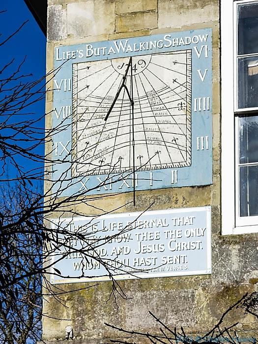 Sundial at Malmesbury House, Salisbury, photographed by Charles Hawes