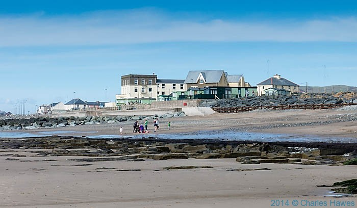 View of Tywyn from the beach, photographed by Charles Hawes