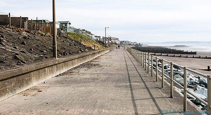 The promenade at Tywyn, photographed from The Wales Coast Path by Charles Hawes