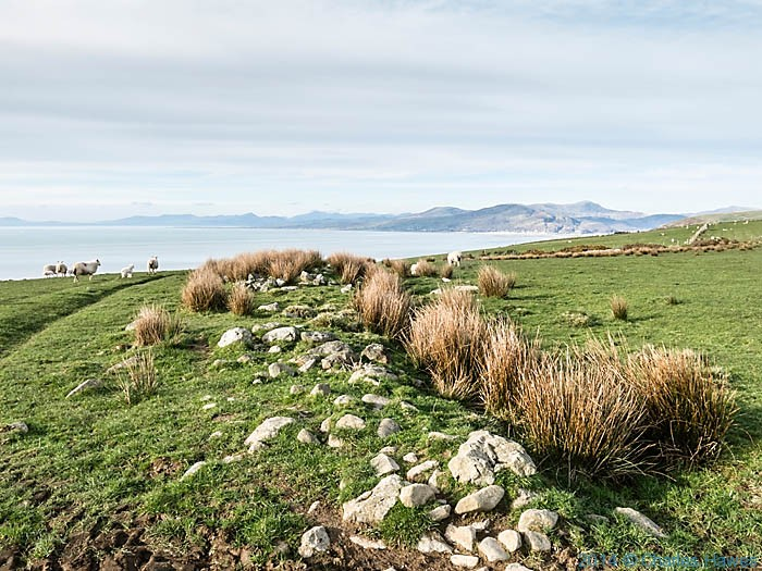 View to the  Lleyn peninsular photographed from near Llwyngwril on the Wales Coast Path by Charles Hawes