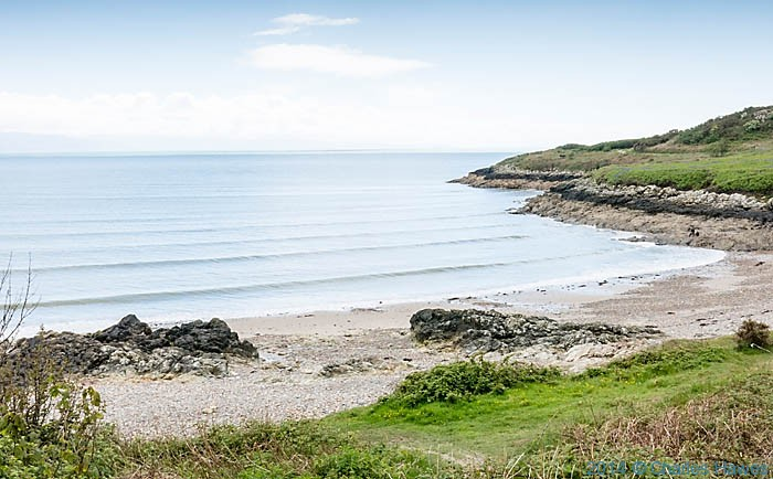 The beach at Porth Fechan on the Lleyn Peninsula, photographed from The Wales Coast Path by Charles Hawes