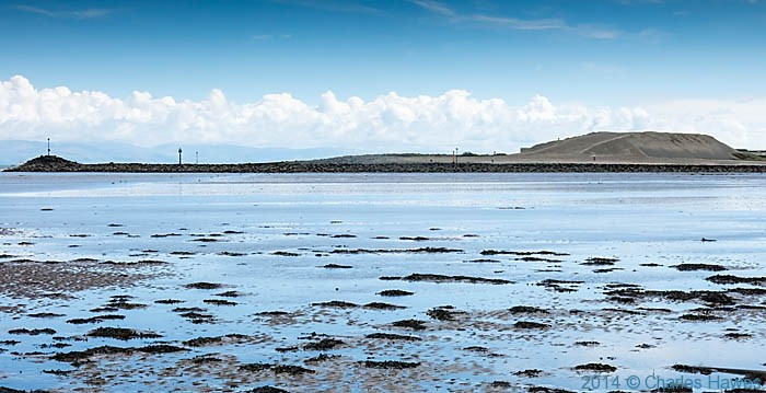 Beach at low tide at Pwllheli, photographed by Charles Hawes