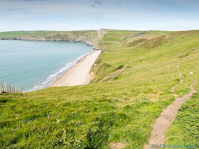 The Wales Coast Path above Porth Ceiriad, photographed by Charles Hawes