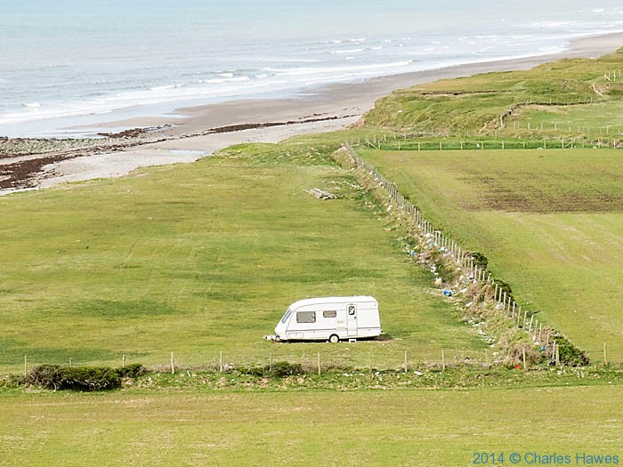 Carvan near Hells Mouth, photographed from The Wales Coast Path by Charles Hawes