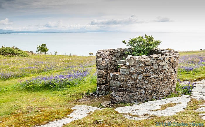 Stone building near Machroes, photographed from The Wales Coast Path by Charles Hawes