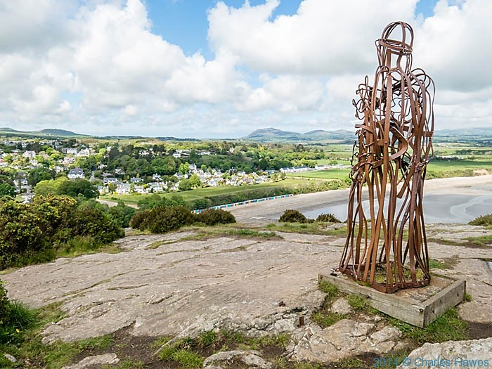 The Tin Man above Llanbedrog, photographed from The Wales Coast Path by Charles Hawes