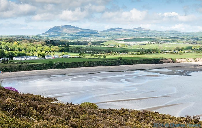 View to Llanbedrog from Mynydd Tir -y -cwmwd, photographed from The Wales Coast Path by Charles Hawes