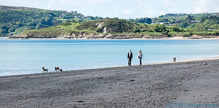 Traeth Crugan on the Lleyn peninsula, photographed from The wales Coast Path by Charles Hawes