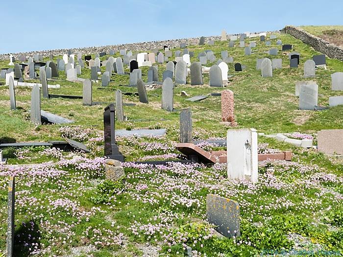 Graveyard of St Hywyn church, Aberdaron, photographed by Charles Hawes
