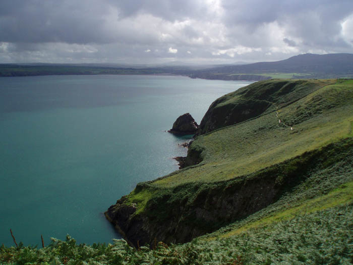View east from Dinas Head: Image by the authors