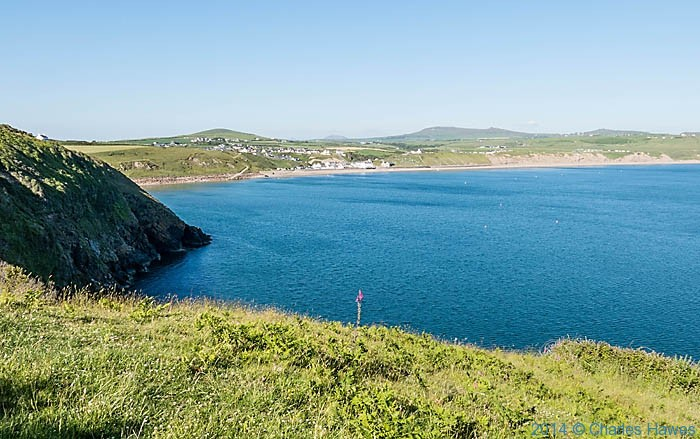 Aberdaron Bay photographed from The wales Coast Path by Charles Hawes