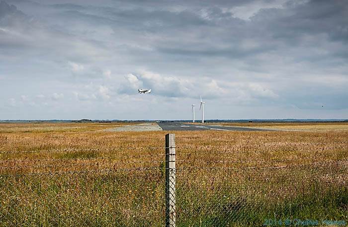 Caenarfon Airport, photographed from The Wales Coast Path by Charles Hawes