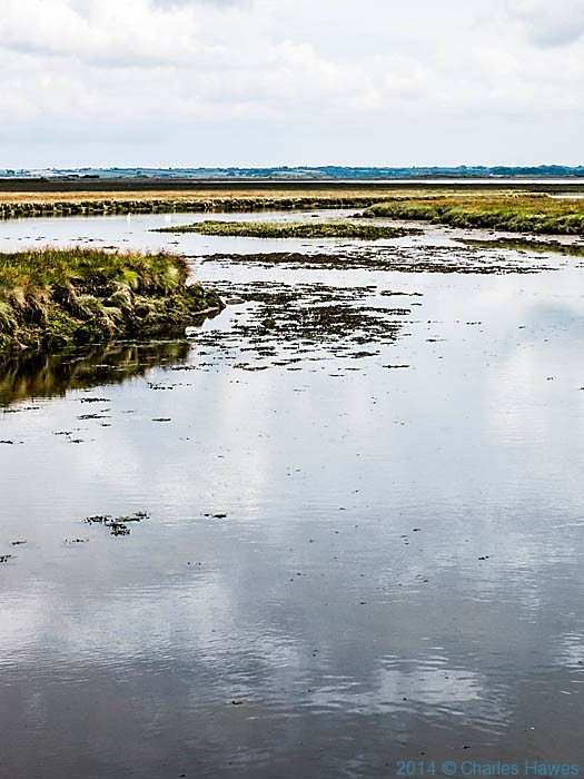 View over Foryd bay towrds Anglesey, photographed from The Wales Coast Path by Charles Hawes