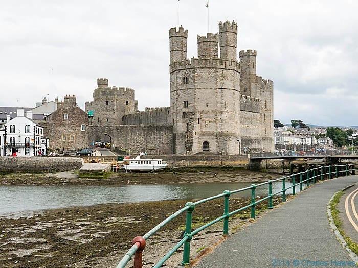 Caernarfon Castle, photographed from The Wales Coast Path by Charles Hawes