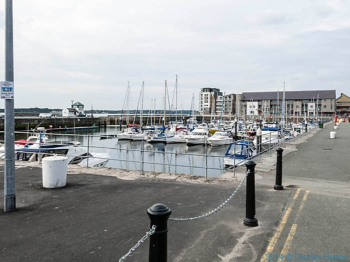 Victoria Dock, Caernarfon, photographed from The Wales Coast Path by Charles Hawes