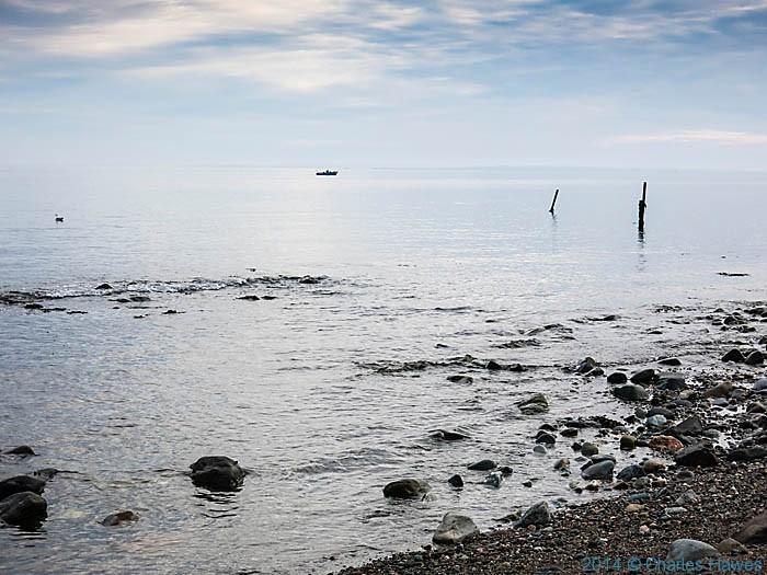 The coast off Gryn Goch, photographed by Charles Hawes