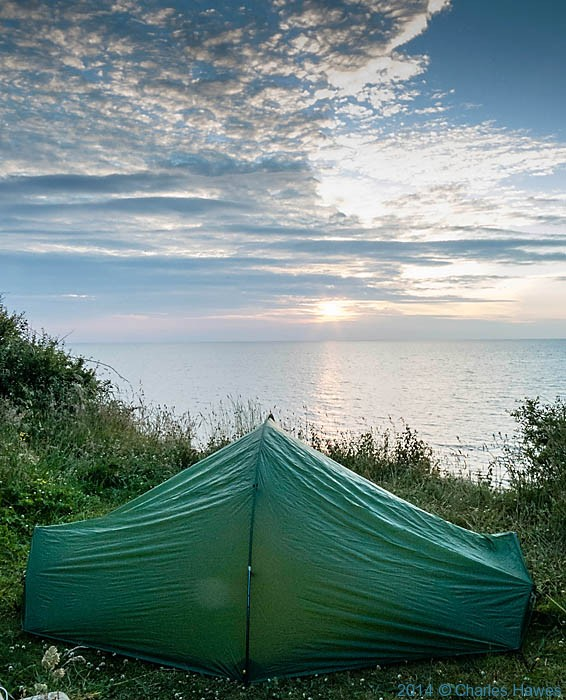 Wild camp off the Wales Coast Path near Trefor, photographed by Charles Hawes