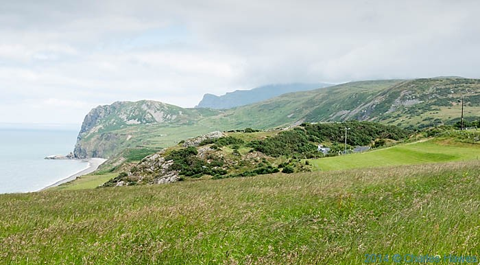 View to Yr Eifi photographed from The Wales Coast Path by Charles Hawes