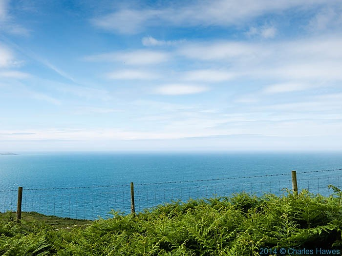 Sky over the sea near Porth Pistyll, photographed from The Wales Coast Path by Charles Hawes