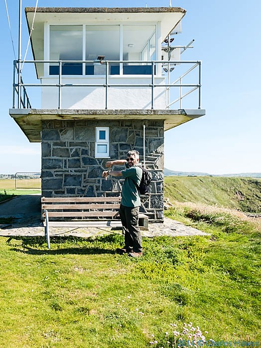 Coastguard lookout station on Trwyn Porth Dinllaen, photographed from The Wales Coast Path by Charles Hawes
