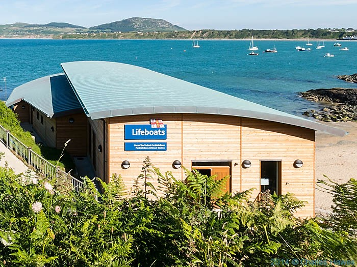 Lifeboat Station at Porth Dinllaen, photographed from The Wales Coast Path by Charles Hawes