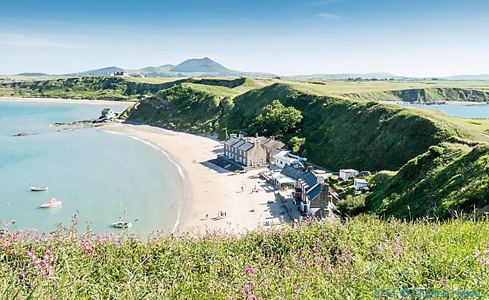 View over Porth Dinllaen from the Wales Coast path, photographed by Charles Hawes