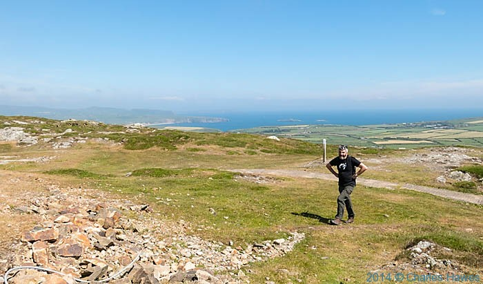 View over Aberdaron bay from Mynydd Mawr, photographed from The Wales Coast Path by Charles Hawes