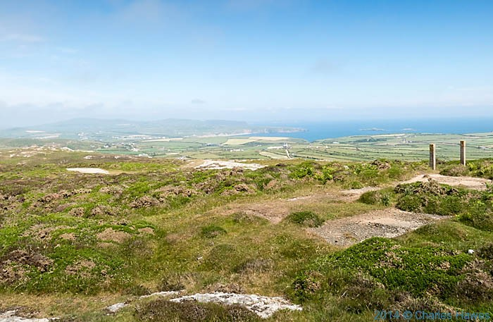 View to Aberdaron Bay from Mynydd Mawr on the Lleyn peninsula, photographed by Charles Hawes