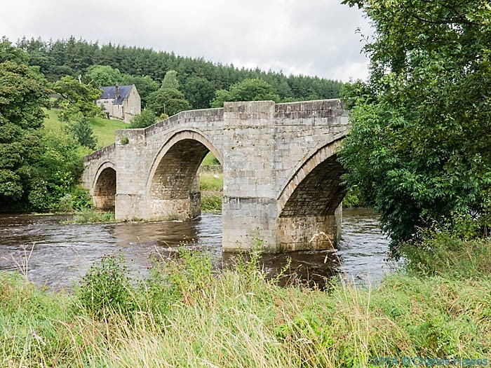 Barden Bridge over the River Wahrf, photographed from The Dales Way by Charles Hawes