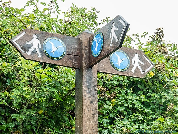 Official Anglesey Coast Path sign photographed by Charles Hawes