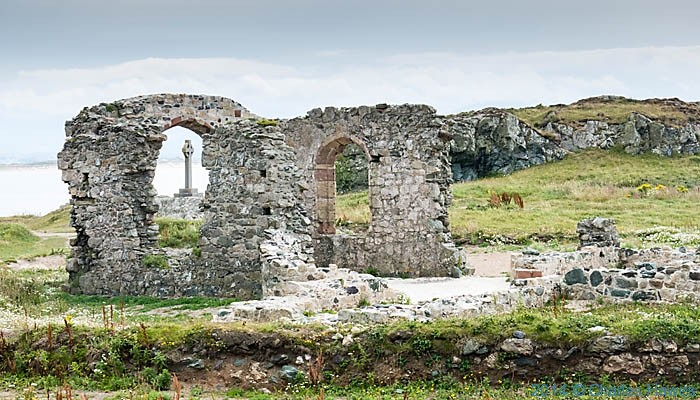 St Dwynwen's Church, Llanddwyn Island, photographed by Charles Hawes