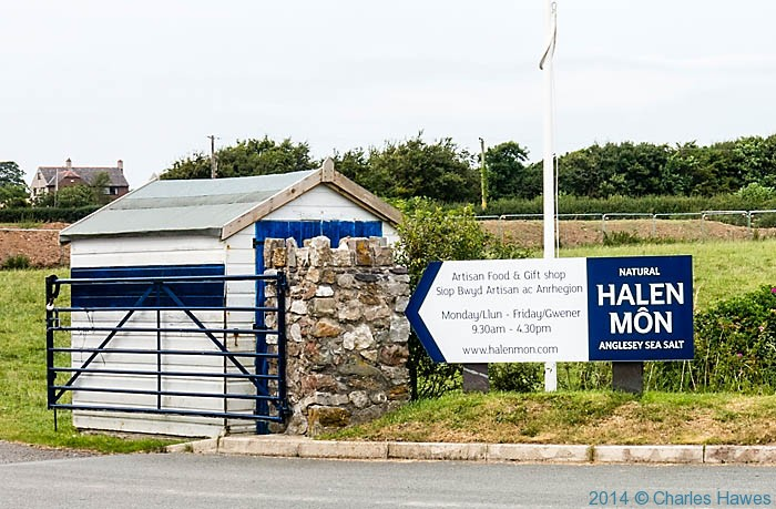 Entrance to Halen Mon, photograpjed fromn The waleds Coast Path on Anglesey by Charles Hawes
