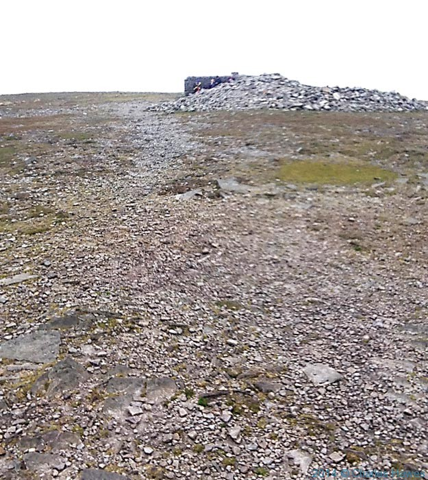 Ingleborough summit, photographed by Charles Hawes