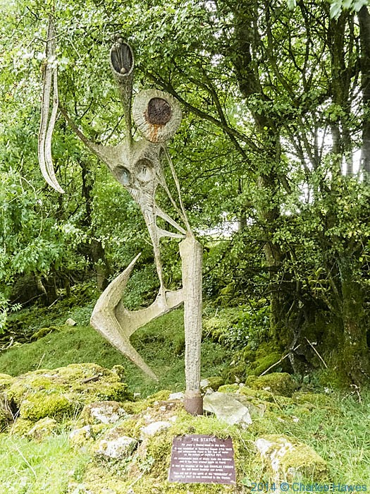 Sculpture by Charles l'Anson by the High Dales Way near Chapel-le-Dale, photographed by Charles Hawes