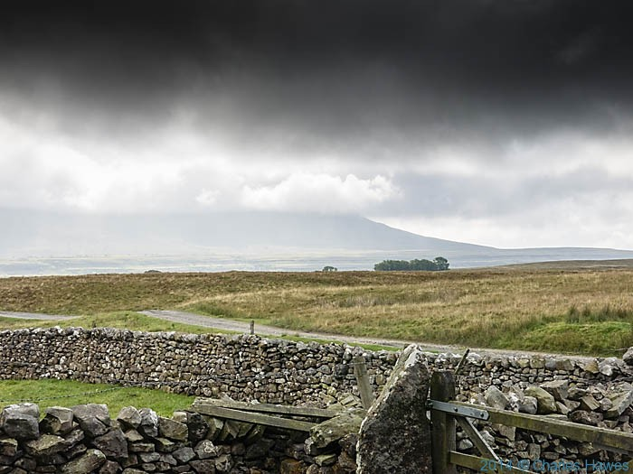 View to Ingleborough, photographed from The Dales High Way near Bruntscar by Charles Hawes