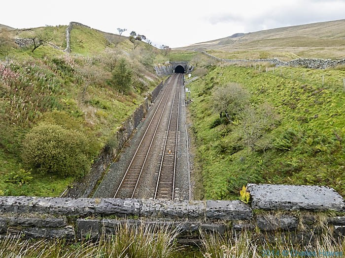 The Settle to Carlisle Railway, photographed from The Dales High Way by Charles Hawes