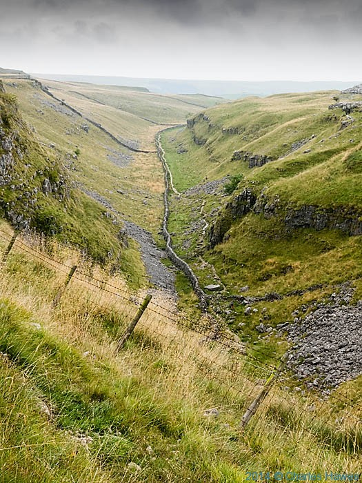 View onto Ing Scar from Ther Pennine Way, photographed by Charles Hawes