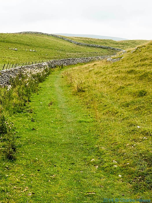 Pennine way north of Malham Tarn, photographed by Charles Hawes