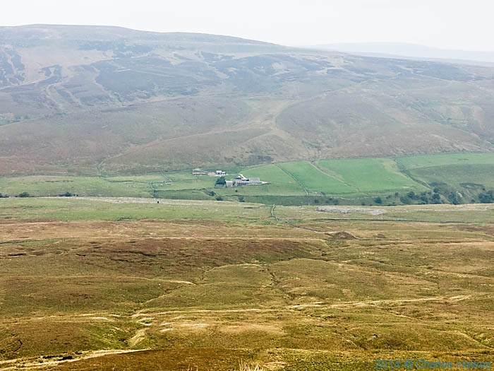 View to the side of Pen-Y-Ghent, photographed from the Pennine way by Charles Hawes