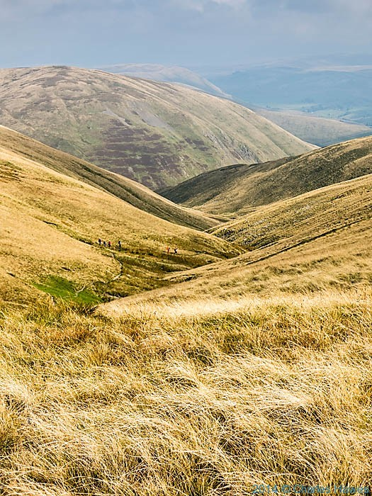 View from near Calders on the Howgill Fells, Cumbria, photographed on the Dales High Way by Charles Hawes