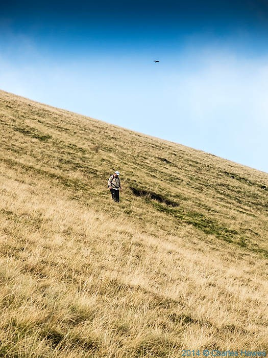 Descending the side of Bowderdale, Howgill Fells, Cumbria, photographed by Charles Hawes